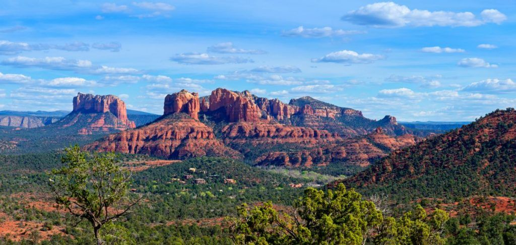 Classic view of the Cathedral Rock in Sedona