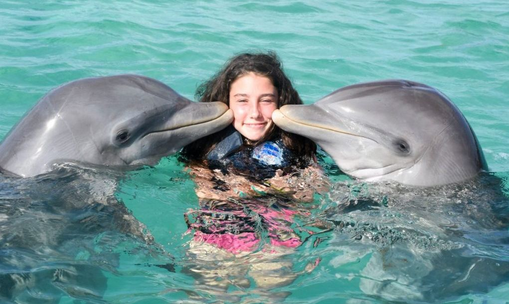 swimming in Cancun