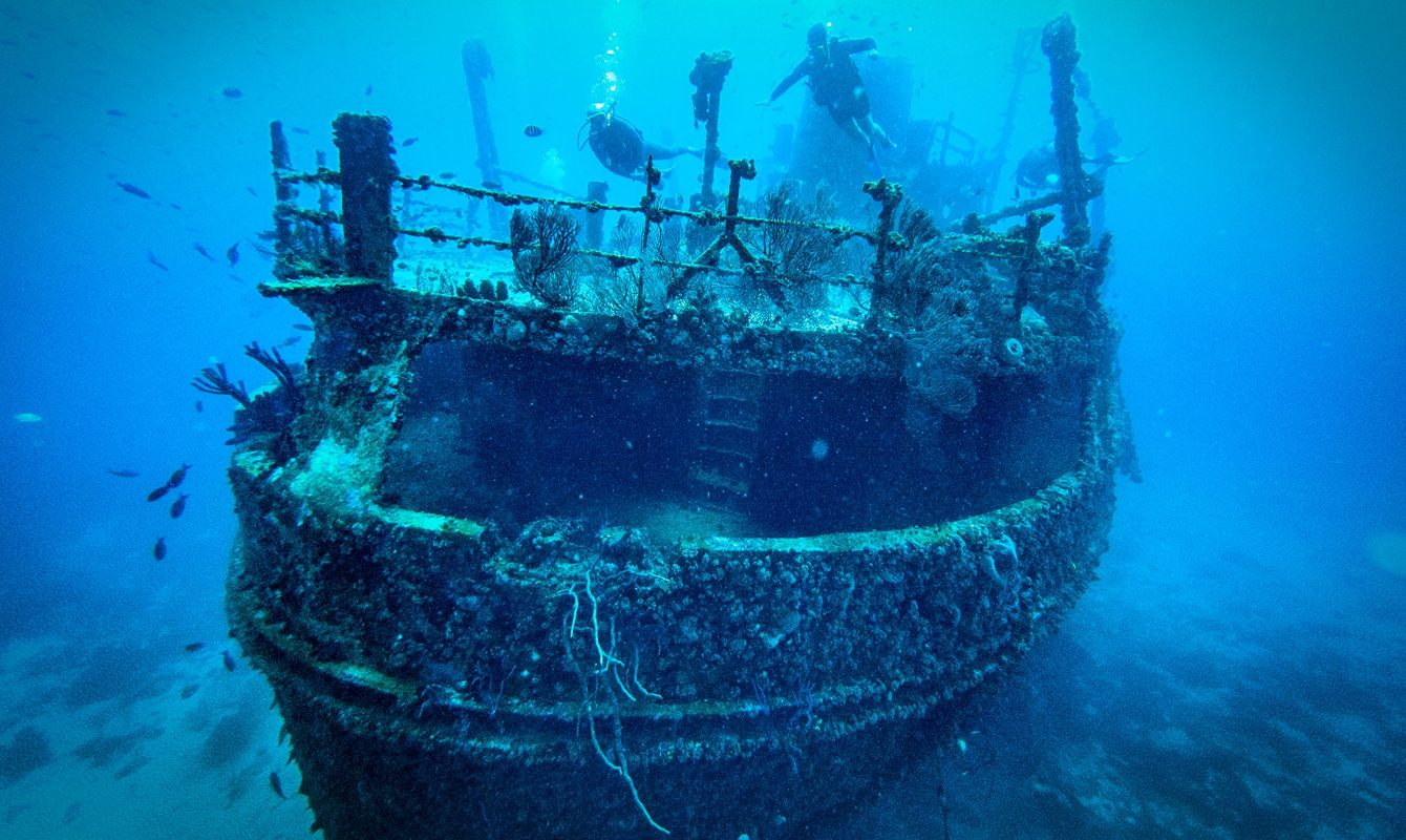 Jane C Shipwreck, Aruba Scuba Diving