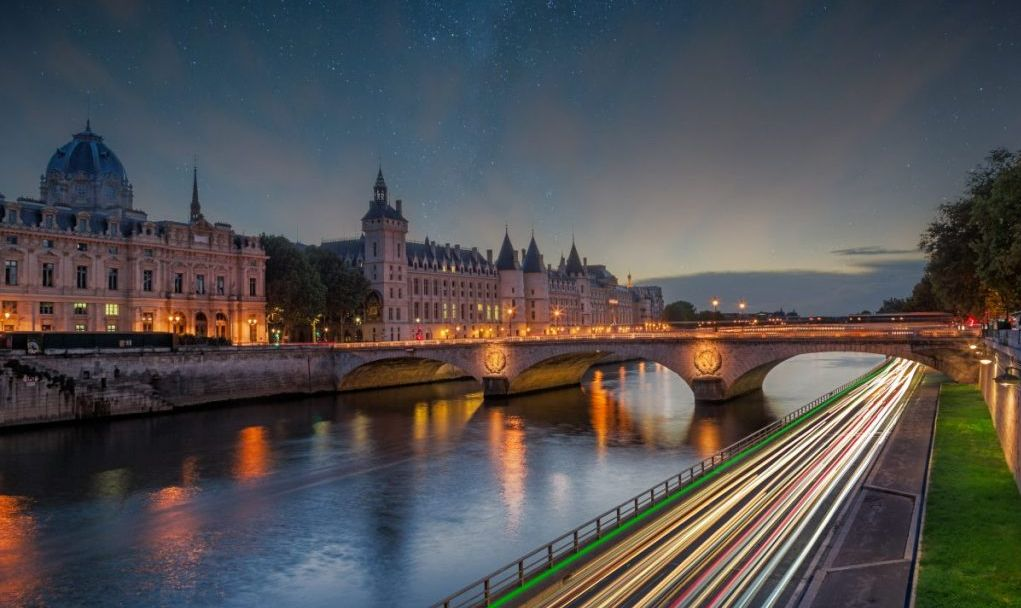 seine river by night