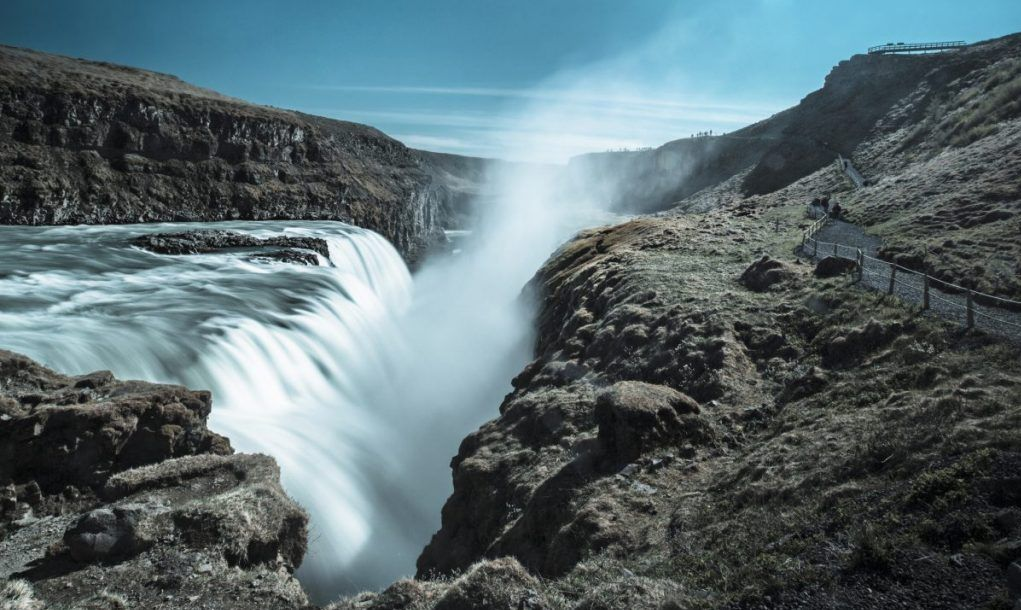 Gullfoss is an iconic Icelandic waterfall.