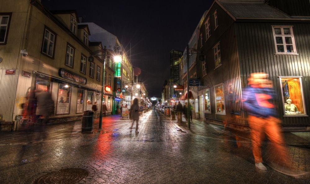 Reykjavik street nightlife