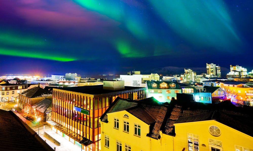 Reykjavík summer travel northern lights