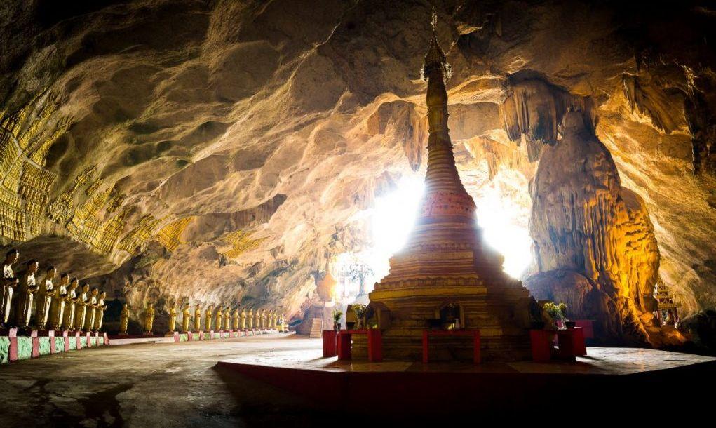 saddar cave buddha statues