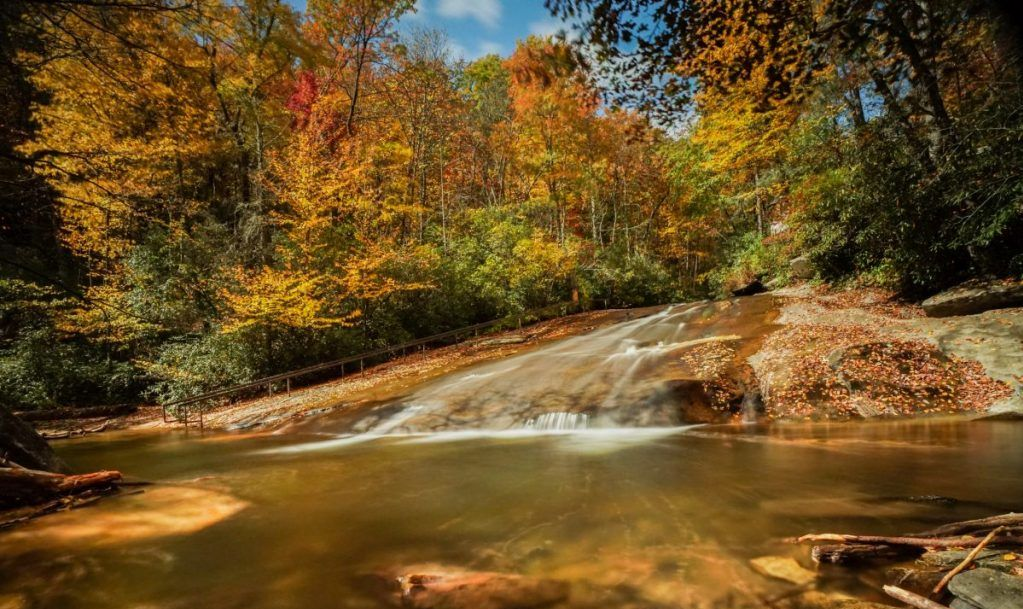 Sliding Rock Falls in autumn
