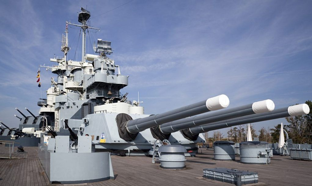 Battleship North Carolina turrets