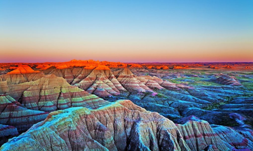 badlands south dakota sunset