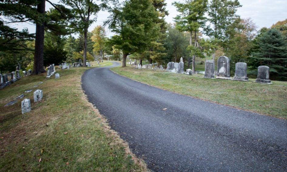 Cemetery near Stephen King's house in Bangor, Maine