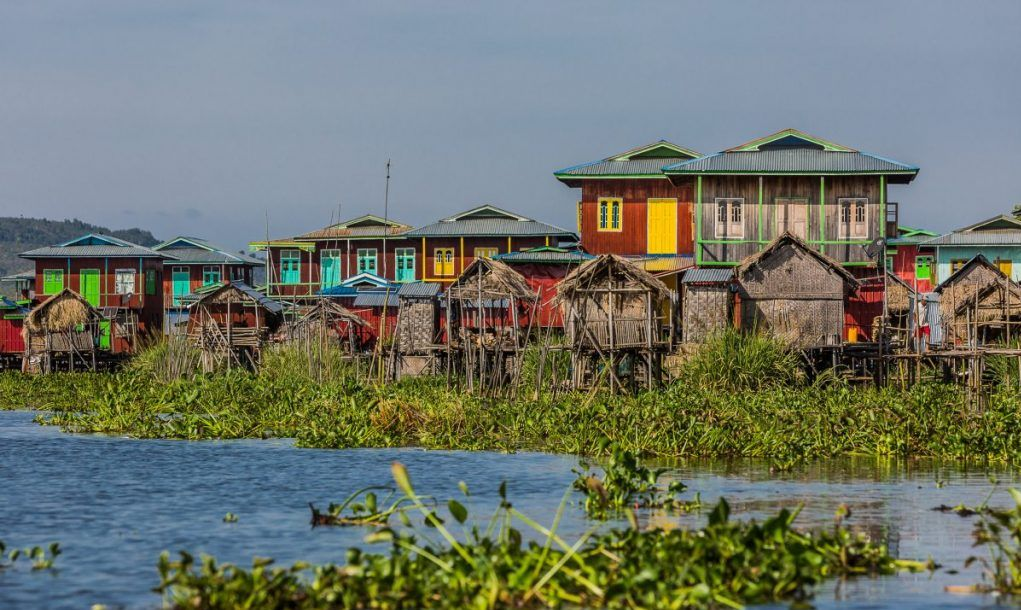 stilt houses lake inle nyaungshwe