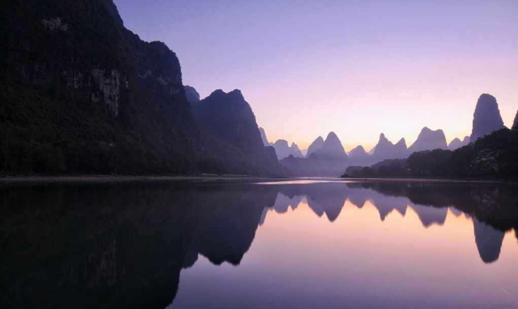 mountains at dawn Guilin China