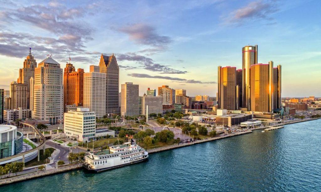 detroit aerial city