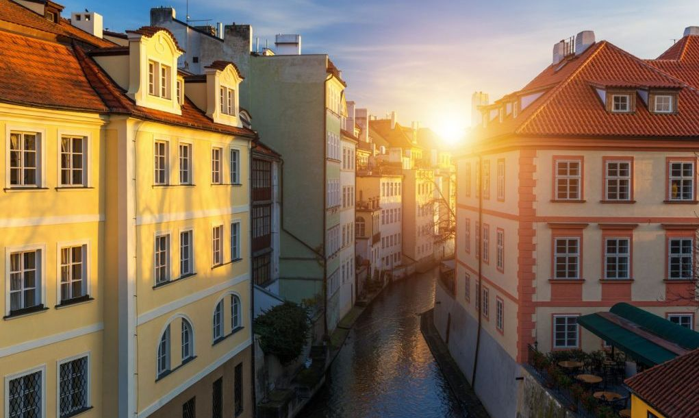 Kampa Island with Certovka River in Old Prague, Czech Republic