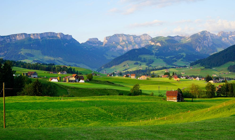 Beautiful Appenzell village in Switzerland