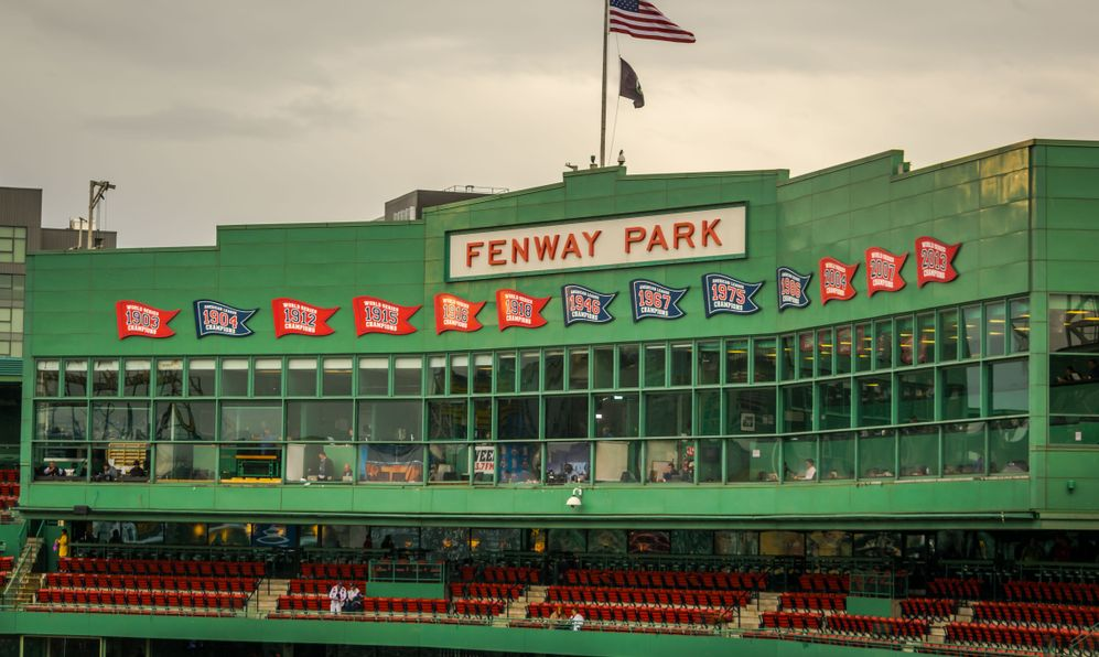 The press box at historic Fenway Park