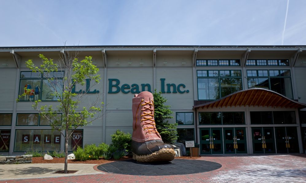 Giant LL Bean boot in Maine