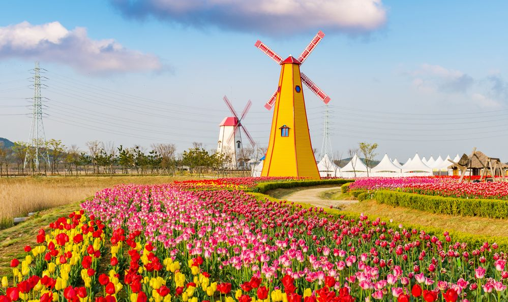 recreated seasonal working windmill