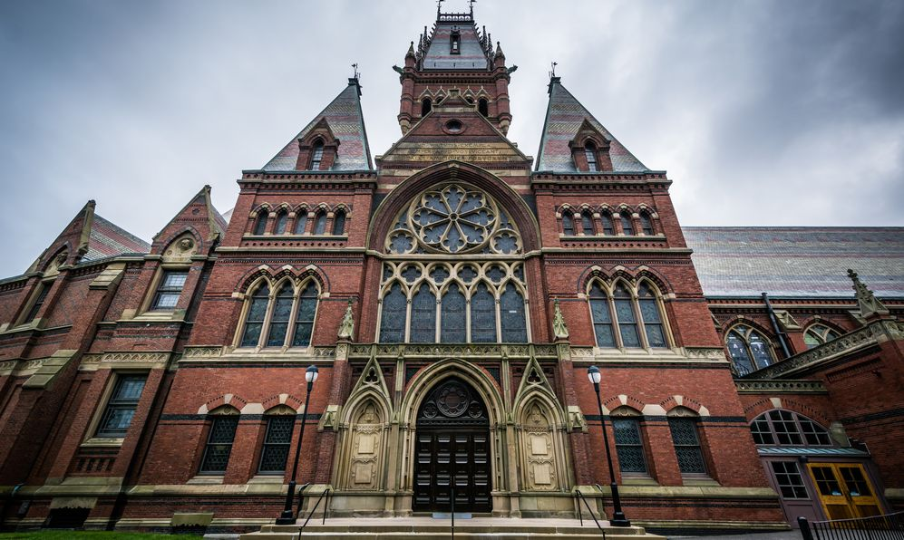 Harvard Memorial Hall, at Harvard University, in Cambridge, Massachusetts