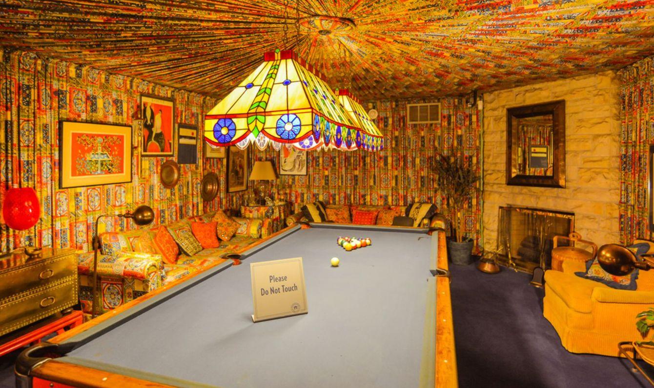 Pool room in Elvis Presley's Graceland Mansion