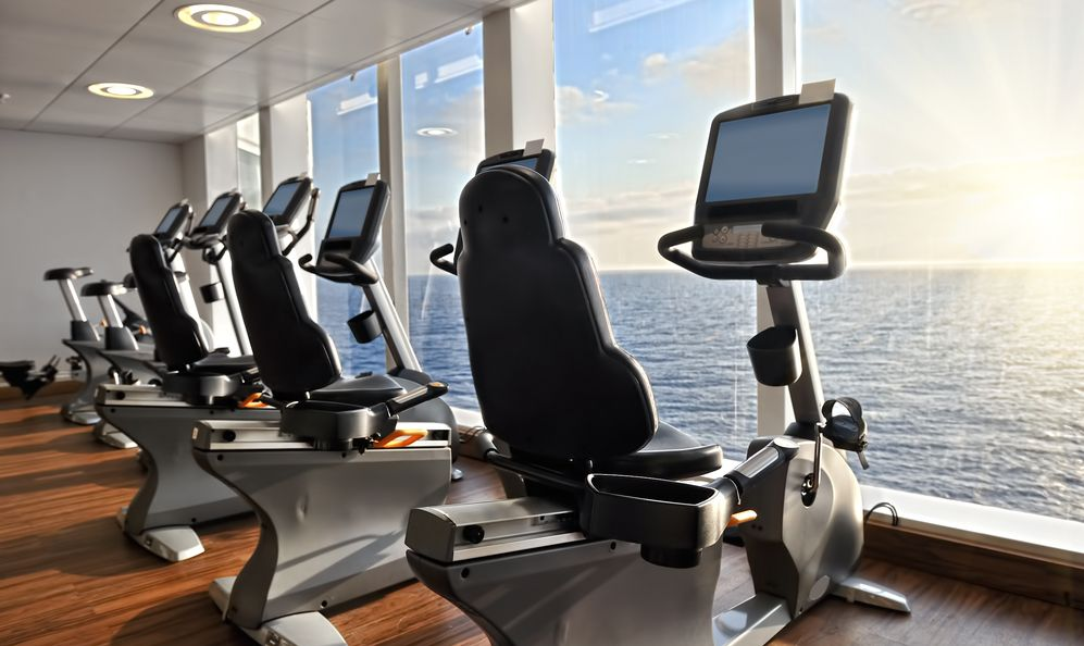 Burn the calories while on on the ship