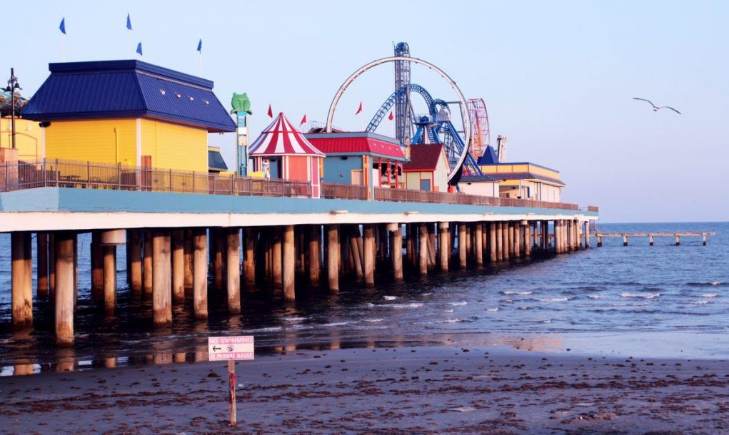 Theme park on pier Galveston