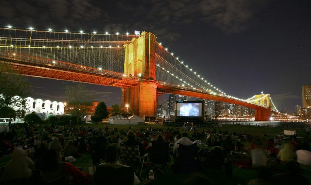 Movie Night Under Brooklyn Bridge