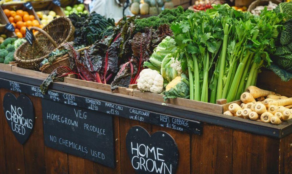 farmers' market vegetables