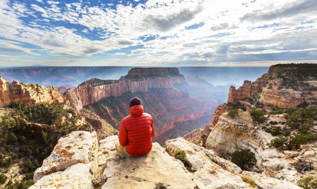 man overlooking Grand Canyon