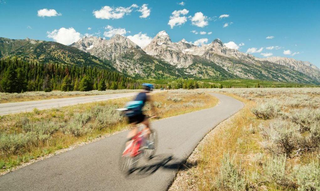 Mountain Biking, Road Cycling in Grand Teton National Park, USA
