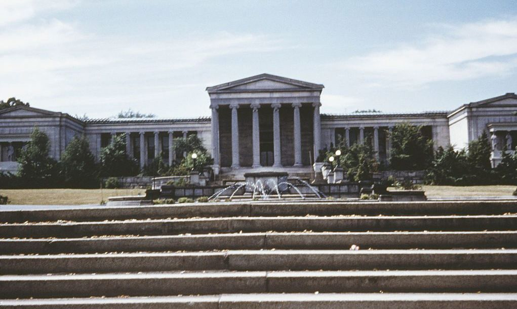 The Albright-Knox Art Gallery in Buffalo, New York State, USA, circa 1965.