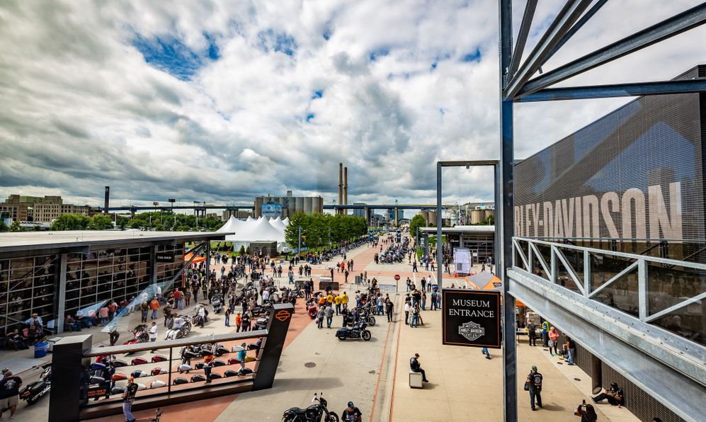Harley-Davidson Museum during the 115th anniversary celebration
