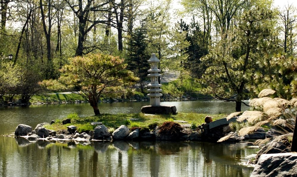 Spring View-Japanese Gardens, Buffalo, New York