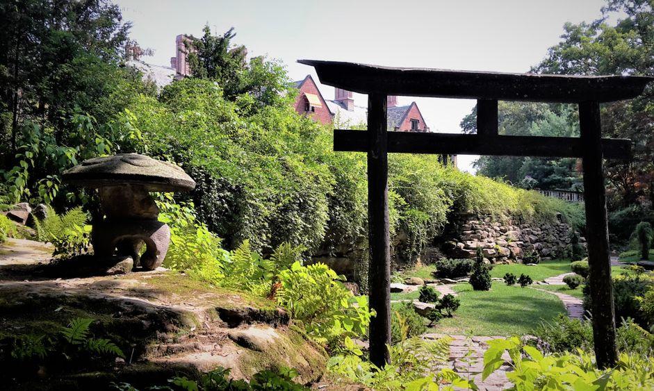 Japanese garden in Stan Hywet Hall and Gardens