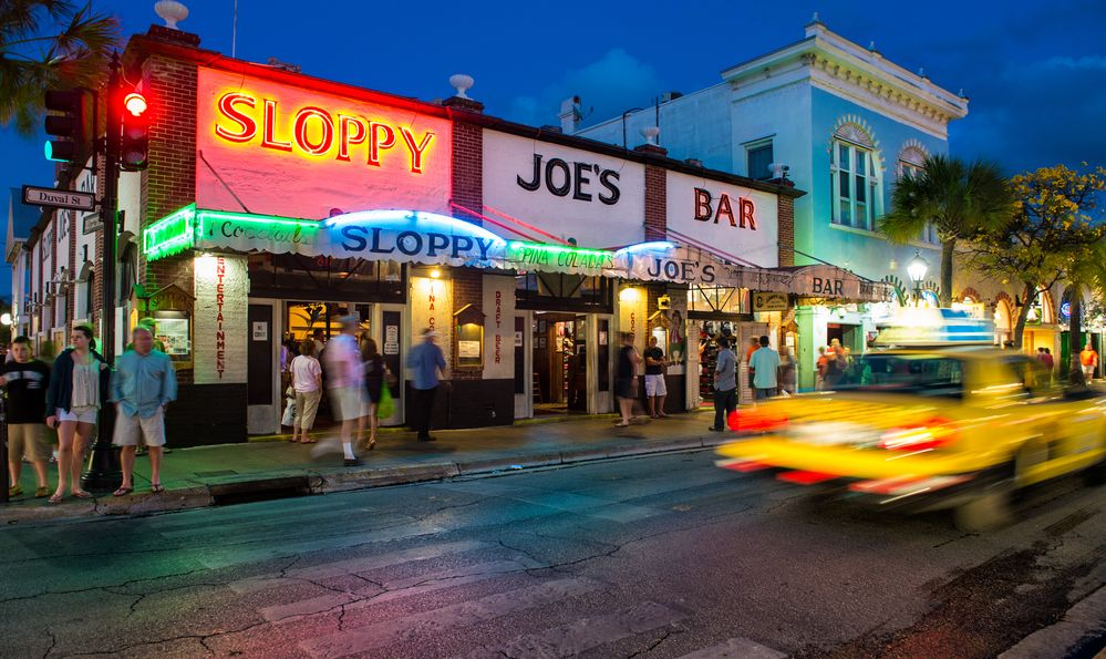 View Slopppy Joe's Bar in Duval Street a landmark in Key West circa 2012.