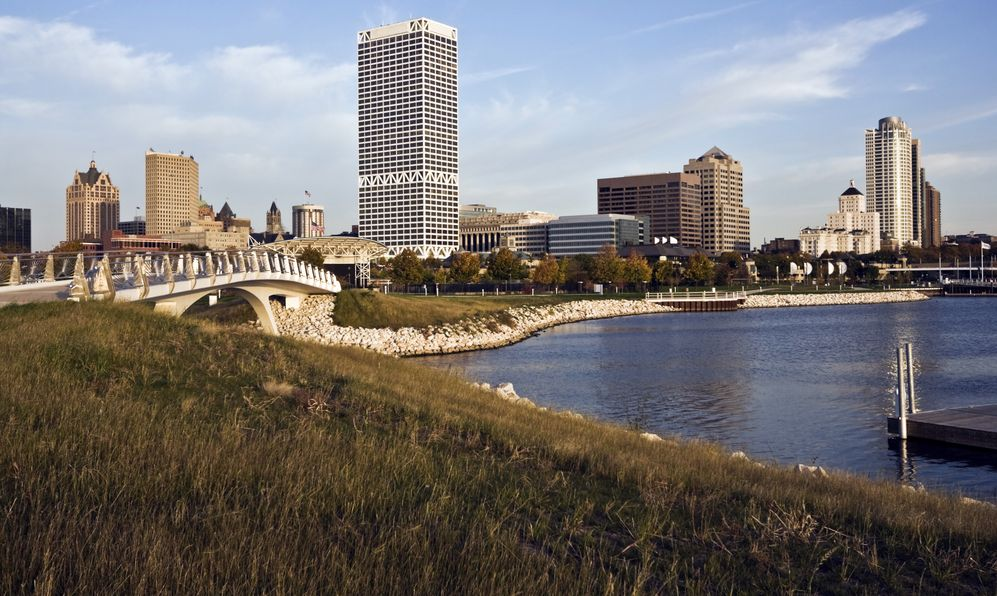 Autumn in downtown Milwaukee,