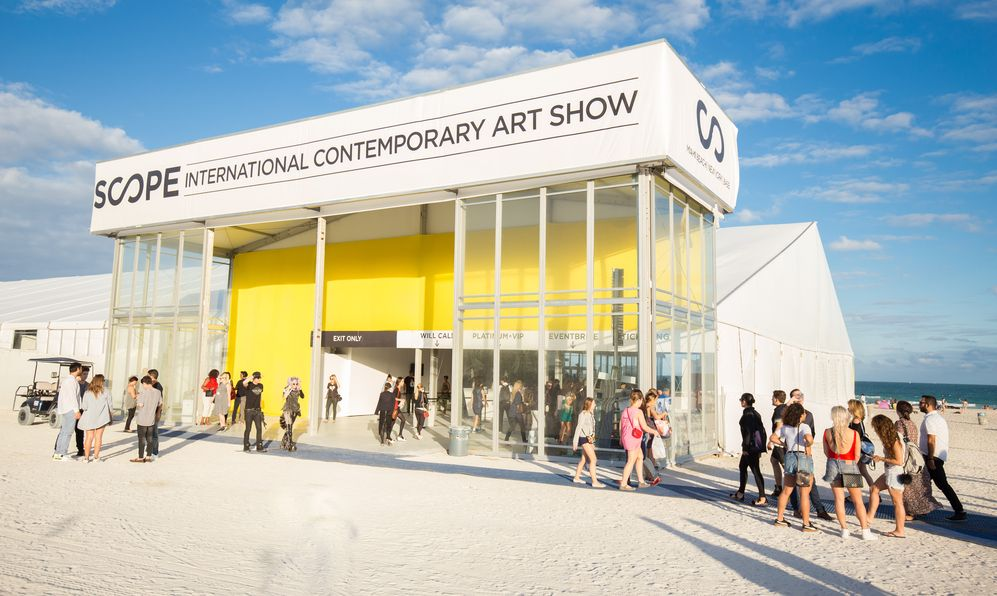 Art Basel week. Biggest art exhibition in the world.