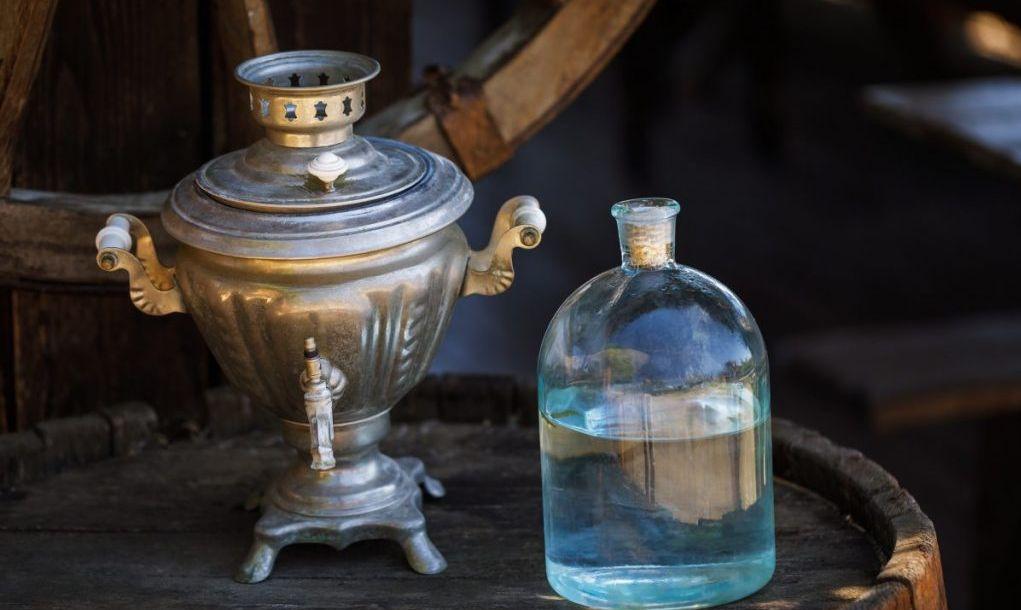 bottle of moonshine