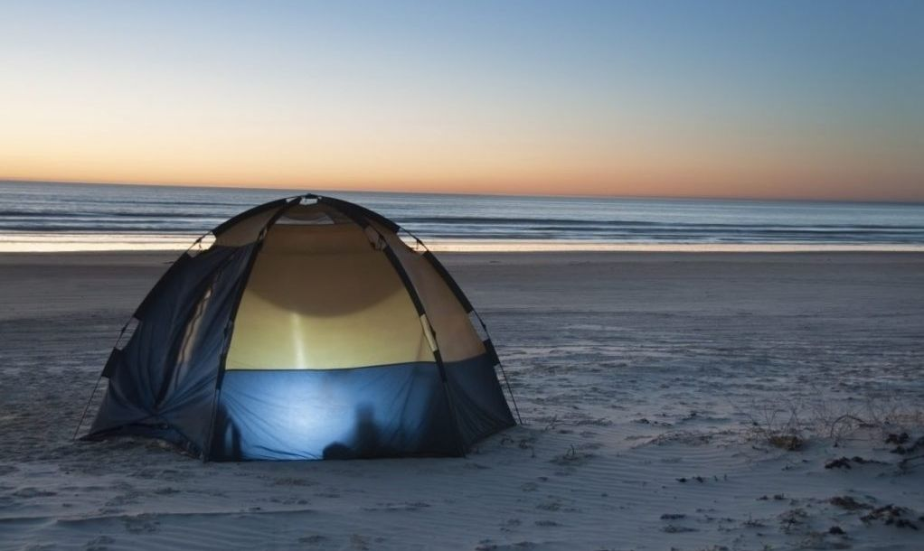 Camping on padre beach