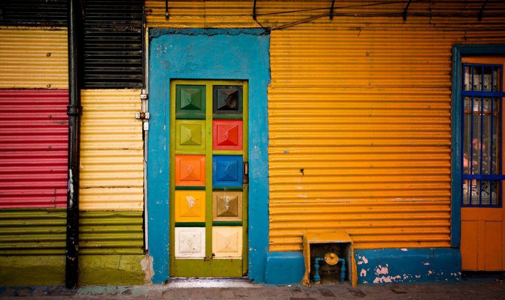 """""""colorful facada in caminito, la boca - buenos aires, argentina"""""""