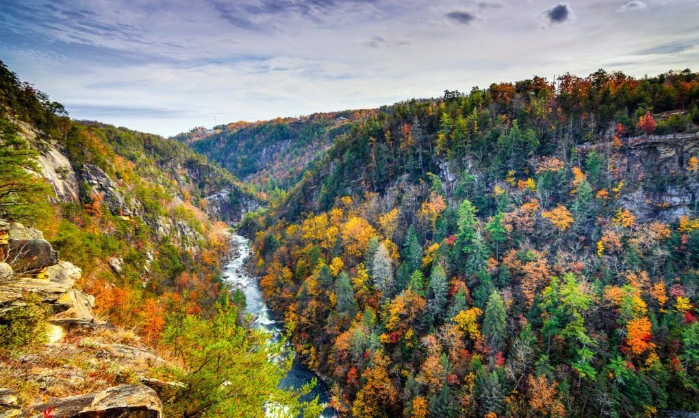 Tallulah Gorge in Georgia, USA.
