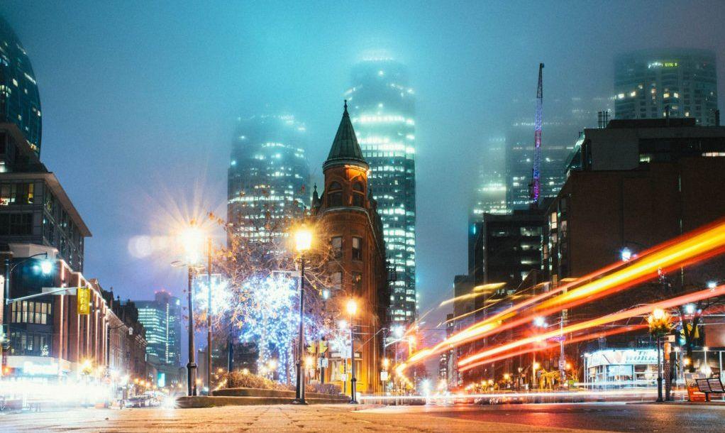 Backlit haze, Toronto, Canada