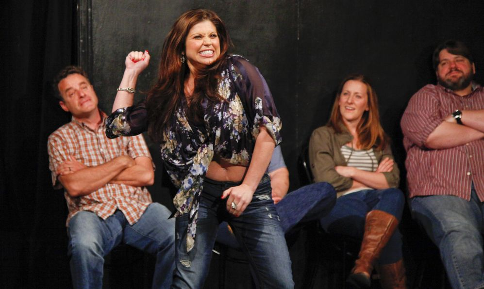 Danielle Fishel performs with the Upright Citizens Brigade at the UCB Theatre in Los Angeles, California