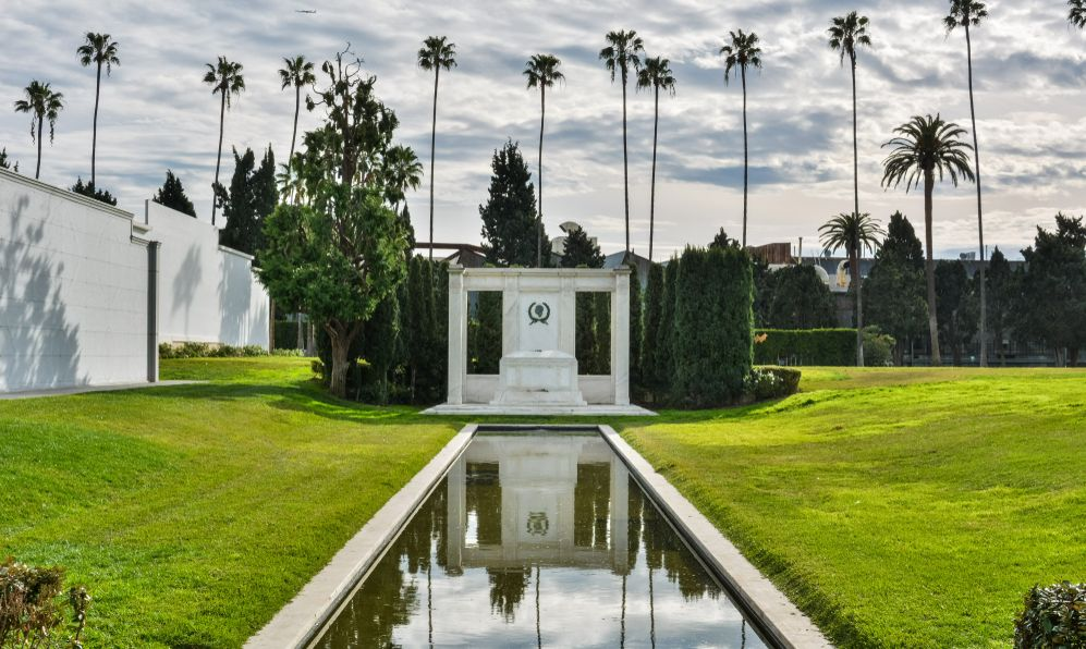 Tomb of actors Douglas Fairbanks Sr. and Jr., at Hollywood Forever Cemetery