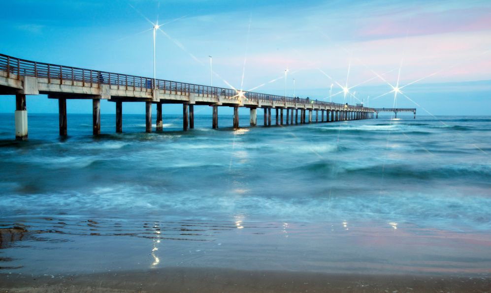 Bob Hall Pier on Padre Island near Corpus Christi,