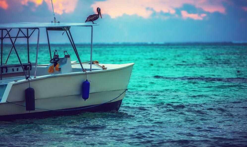 Exotic Beach boat in Dominican Republic, Punta Cana