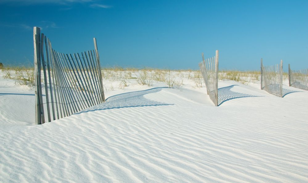 Sand dunes in Gulf State Park, Gulf Shores, Alabama
