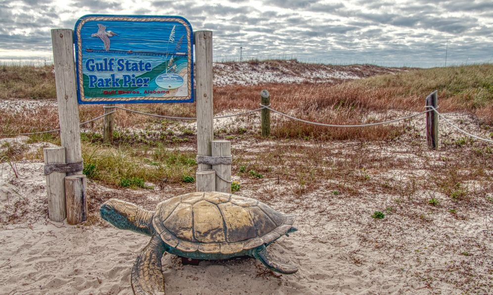 Gulf Shore State Park is in Alabama near the Florida Border on the Gulf of Mexico