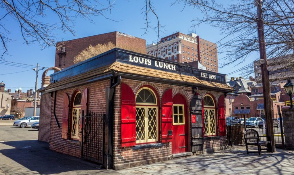 Louis' Lunch in New Haven, Connecticut