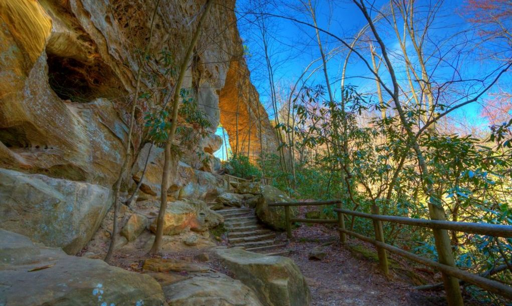 Natural Bridge State Park in Kentucky