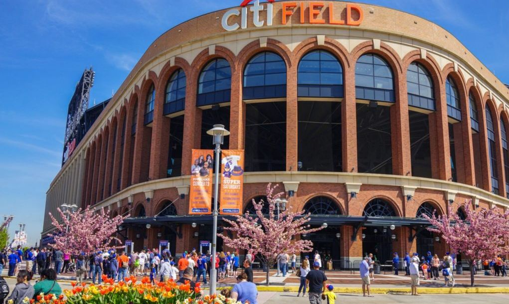Citi Field stadium located in Flushing Meadows Corona Park and home of the New York Mets