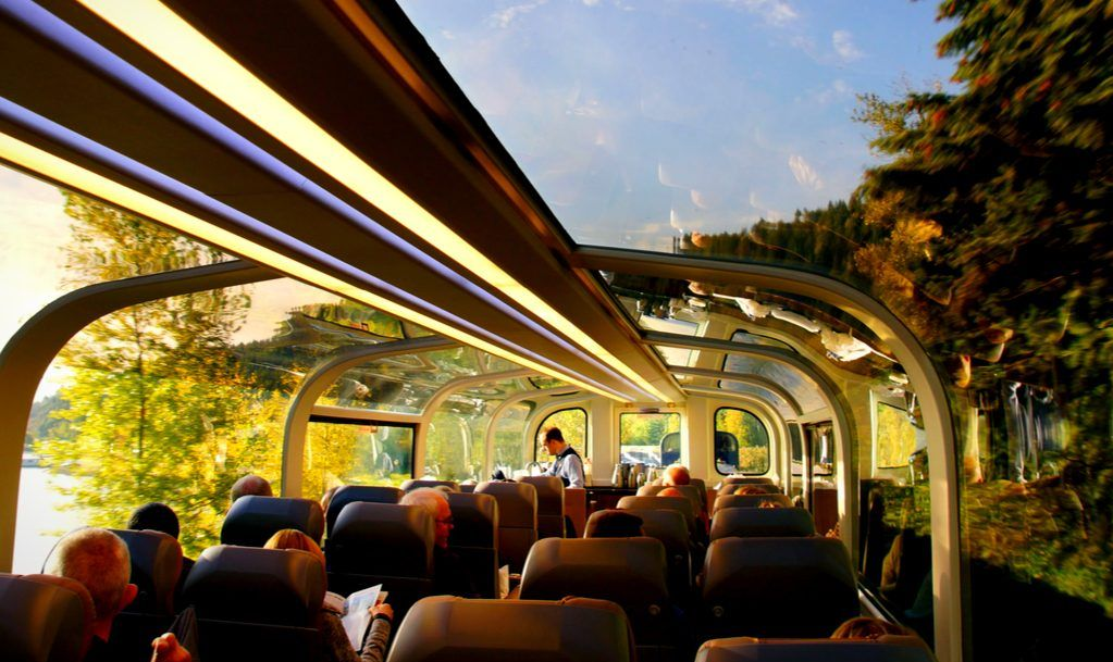 The famous rocky mountaineer train